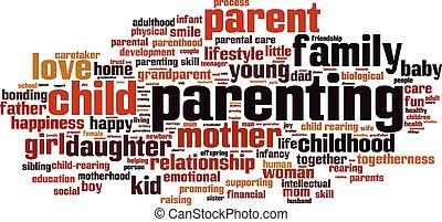 parenting , λέξη , σύνεφο
