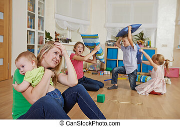 parenting and family frustration - female parent woman...