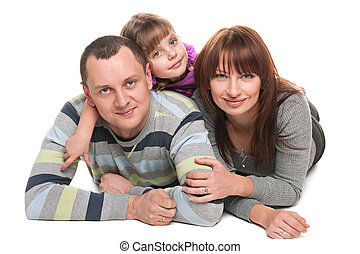 Parenting and love - A mother, father and a little daughter ...