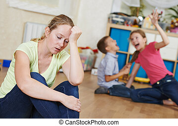 parenting, et, famille, problème