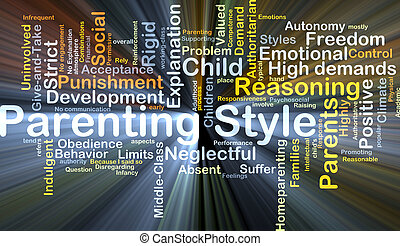 Parenting style background concept glowing - Background...