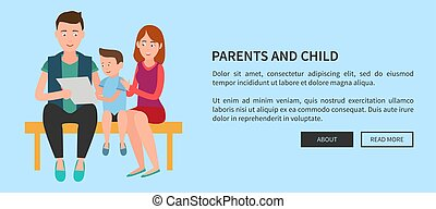 Parents and Child Web Poster Mother Father and Son