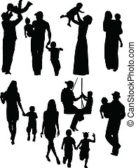 parents and children - vector