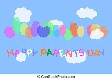 Parent's day illustration