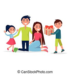 Parents Day Poster Depicting Smiling Family