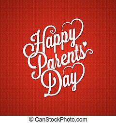 parents day vintage lettering background