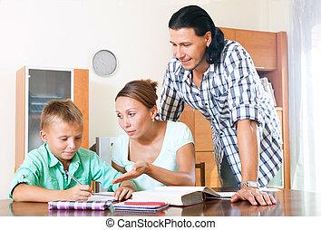 parents, devoirs, écolier