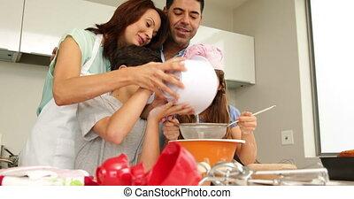 parents, enfants, cuisson, leur