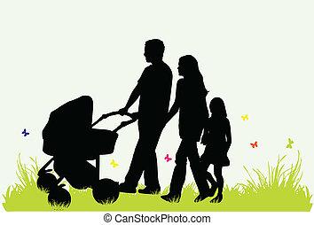 parents, enfants, famille, -