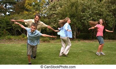 parents, enfants, leur, jouer