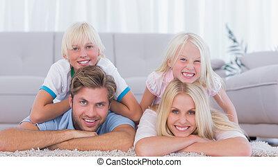 parents, enfants, mensonge, moquette