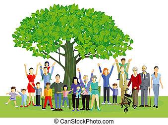 parents, famille, enfants, grands-parents