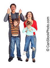 parents hold children for hands