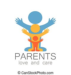 parents love care logo - Parents sign. Love and care. Logo...