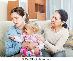 Parents problems - Parents problems. Mature woman comforting...