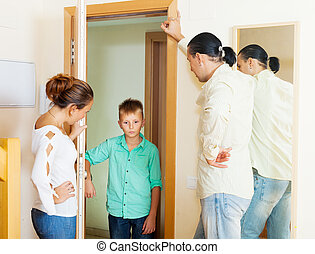 Parents scold son, who later returned home