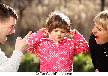 Parents shouting at an innocent child in the park - A...