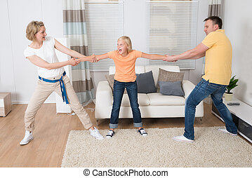 Parents Under Divorce Dividing Kids At Home