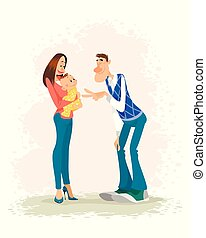 Parents with a baby