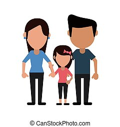 parents with daugther family