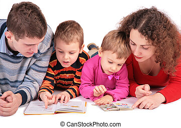 parents with son and daughter look books 2