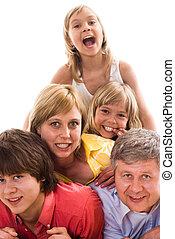 parents with their three children