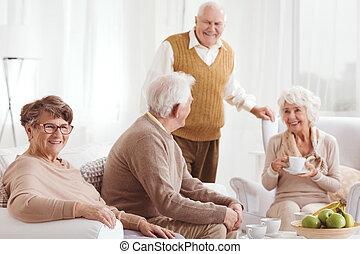 pares, anciões, dois