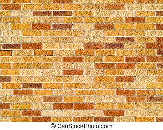 parete, arancia, fondo, abbronzatura, mattone, rosso
