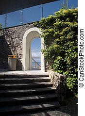 parete, arco pietra