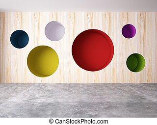 parete, astratto, fondo