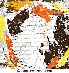 parete, astratto, vettore, grunge, fondo