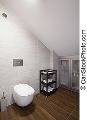 parete, bagno, propenso