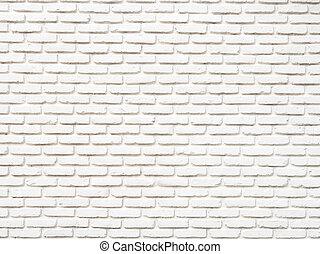 parete, bianco, grunge, mattone