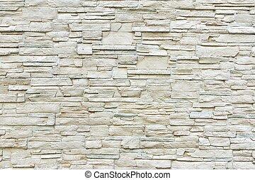 parete, bianco, pietra, artificiale