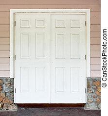 parete, bianco, porta