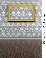 parete, bianco, tela