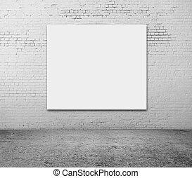 parete, bianco, vuoto