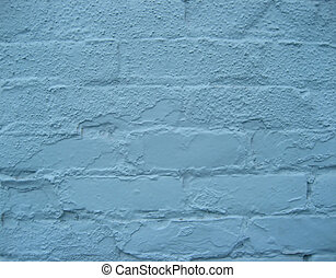 parete blu, mattone