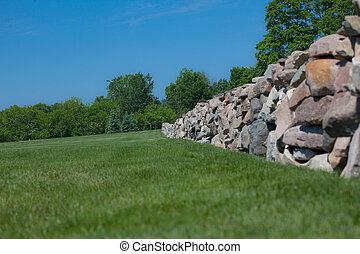 parete, campo, pietra