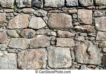 parete, campo, pietra, vecchio, scozzese