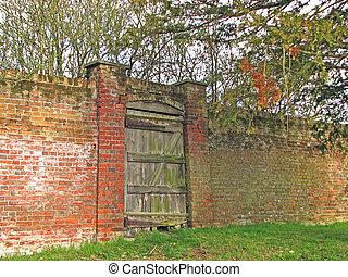parete, cancello