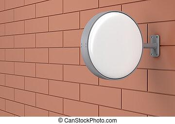 parete, cartello, vuoto