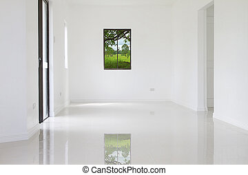 parete, casa, bianco, nuovo