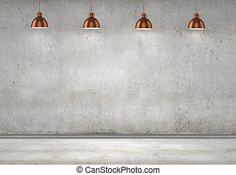 parete, cemento, vuoto