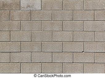 parete, cinderblock, fondale