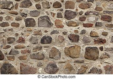 parete, cobbled, fondo