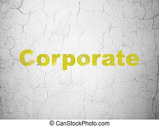 parete, concept:, finanza corporativa, fondo