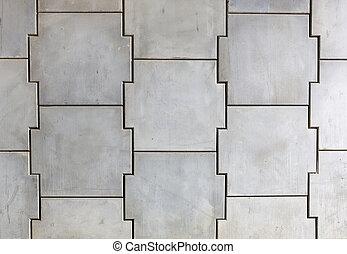 parete, concreto, asservimento
