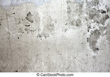parete, concreto, fesso, grunge