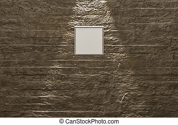 parete, concreto, tela, moderno